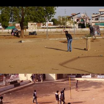 जिथे क्रिकेट खेळता येते ते ग्राउंड असते